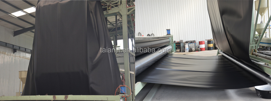 20 Mil Ldpe Liner : Black hdpe plastic sheet geomembrane suppliers view