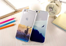 Hot selling for iPhone 6 ultra slim tpu case cover 0.3mm with drawing painting designs