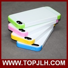 3D Sublimation Plastic +TPU Rubber Phone Case for iPhone 5s