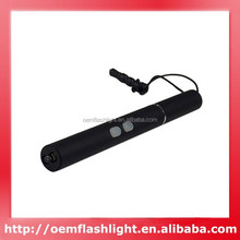 Cigarette Style Small Flashlight and Red Laser - Black