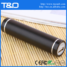 Custom metal 2600mah manual for power bank battery charger