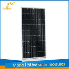 Hot sale cheap price 150w mono solar panels in china
