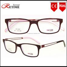 2015 New Model Hand Made Acetate Italian Eyewear Brand Fashion Women Optical Frame (AC-580)