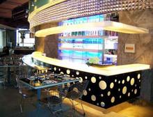 Moderno y elegante diseño bar muebles Led restaurante de lujo barra de bar