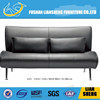 Simple black style High Density Foam Genuine Leather Sofa with stainess steel leg