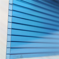 Hight Light Transmission 6mm Green Color Twin wall Polycarbonate Hollow Sheets Heat Resistance Panel For Greenhouse Glass Roof