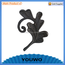 cast steel leaves and cast iron leaves component of iron fence and gate
