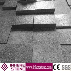 Low price g654 flamed brushed granite tile