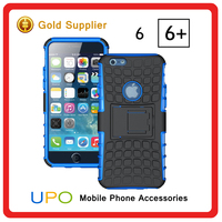 [UPO] Heavy duty rugged hybrid 2 in 1 tpu pc case for iPhone 6 plus with kickstand