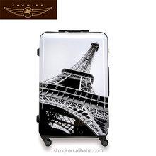 girls fancy travel hard Eiffel tower easy trip suitcase