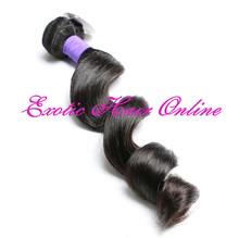 Exotichair aliexpress hair mixed brazilian virgin hair extension remy wavy