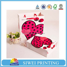 2015 Made in China GuangZhou Factory Small Logo Printed Custom hot-stamping paper gift bag printing shop