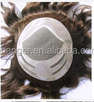 swiss /france lace toupee with invisible natural hairline high quality