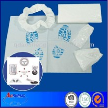 disposable PE auto body kits (Seat cover,footmat wheel steering cover)