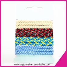 Fashion braided elastic hair band, hot sale hair tie for girl