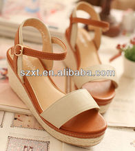 Hot selling hemp wedge shoes fashion online/fashion shoes online/cheap online shoes