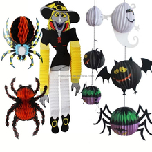 Wholesale halloween paper pompons of decorative paper props