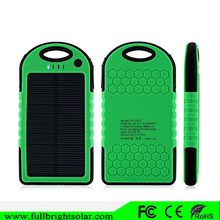 Dual USB Waterproof 5000mah Solar Battery Charger