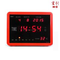 Colourful Desktop Digital Clock Led Display Calendar