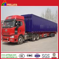 20-80 Tons Heavy Duty Loading Capacity Van Type Box Semi Trailer Lorry Transport With Best Service