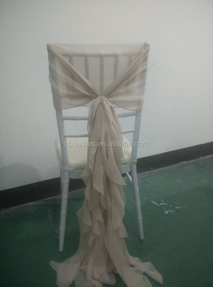 wholesale hen wedding blush chiffon ruffle chair