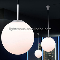 2014 new hanging fluorescent light fixtures suspension ball lamps led on home