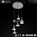 Lustre decorativo peças, flor de vidro candelabro om88184-6b