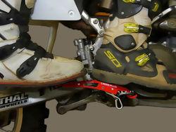 OFF ROAD DIRT BIKE PASSENGER FOOT PEGS IN RED by CROSS PLUS