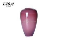 Perfect Purple Ceramic Flower Modern Vase, Art Glass Vase For Sale