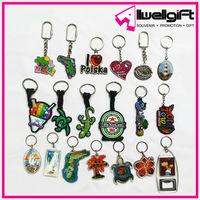 Soft PVC Acrylic Plastic Metal Polyresin Leather Souvenir Promotion Gift Key chains