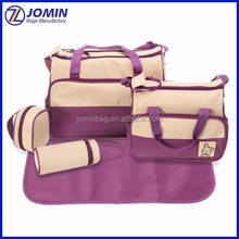 Wholesale 5 pcs per set Diaper Mummy baby bag, Baby changing nappy bag