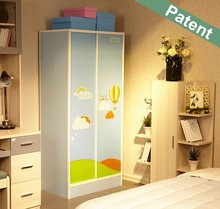 Joenony white oak plastic wardrobe design sliding door Modern wooden bedroom wardrobe design