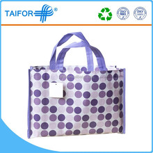 glossy laminated promotion tote bag wholesale