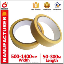 80 degrees yellow color automotive masking tape