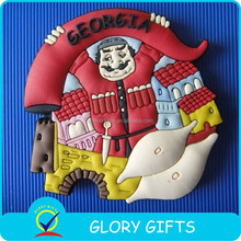 2015 promotion custom tourist souvenir decoration 3d wholesale soft pvc fridge magnet