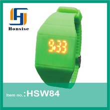 Students Green Silicone Led touch screen watch