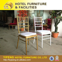 Foshan rental wedding chiavari tiffany chair with removable cushion