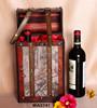 Worldmap Wooden Wine Box 2 bottles