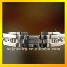2012 hot selling new design mens jewlery steel bracelet