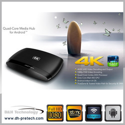 Android 4.4 Quad core tv box cheapest s812 3D quad core hot sell quad core mini a9