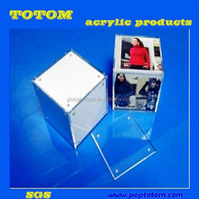 POP Clear Acrylic photo frame with pen holder