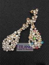 Retro Fashion Full of Diamond Earrings Drop Earrings