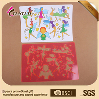 plastic drawing stencils PP stencils drawing template christmas stencil