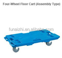 pallet with wheels, plastic pallet with wheels, 2015 NEW assembly 4 wheel platform floor cart