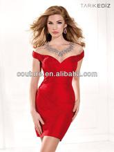 Latest Sexy Hot Red Formal Different Short Patterns Styles Cocktail Dresses 2014 Spring Tarik Ediz XT-652