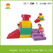 Palyground games soft play equipment train model combo