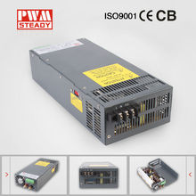 Steady CE approved SCN-1000-48 1000W 48V power supply with DC 21A Single Output , transformers 220v to 48v for Led Strip