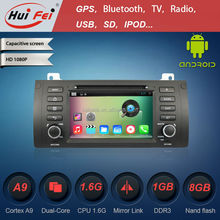 Android 4.4.4 HD car dvd player with GPS navigation wifi 3G usb OBD radio RDS tv vedio bluetooth dvd for BMW5-E39/BMW X5-E53