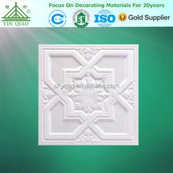 Wholesale Gypsum Reinforced 3D Plaster Flower Carving Ceiling Board