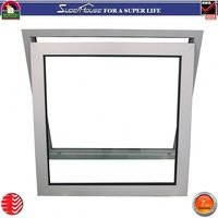 Wholesale decorate cheap window with grill design aluminium frame top hung window